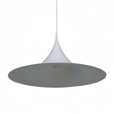 White Semi Pendant by Bonderup & Thorup for Fog Morup, 1960s
