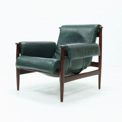 Eric Merthen Rosewood Amiral Easy Chair by Ire Möbler, Sweden 1960s