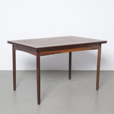 Rosewood extending dining table, 1950s
