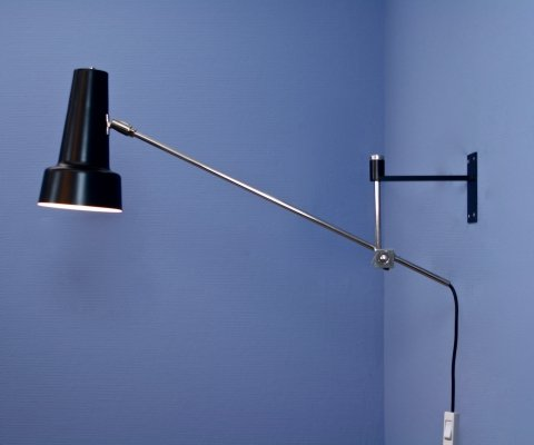 Dutch wall lamp by Willem Hagoort for Hagoort lighting, 1950s
