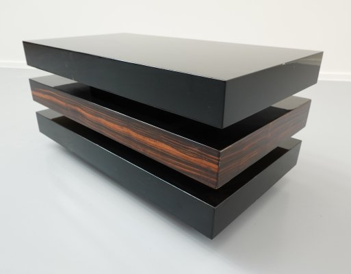 Art Deco style lacquered coffee table, 1960s