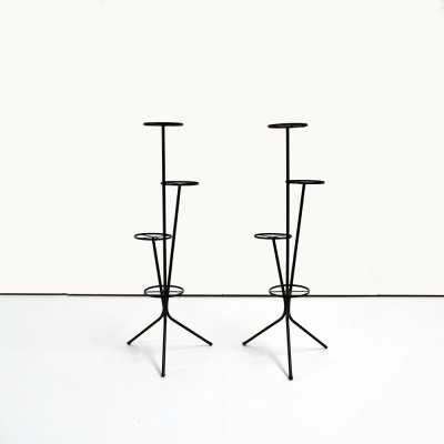 Pair of vintage plant stands, 1970s
