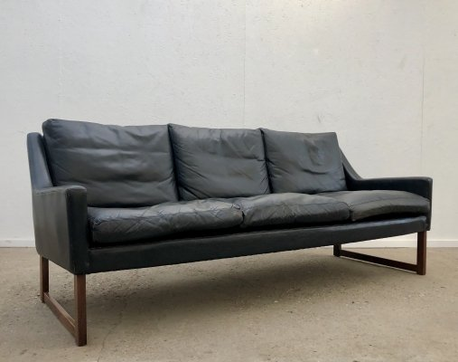 Leather 3-seater sofa by Rudolf B. Glatzel for Kill International, 1960s