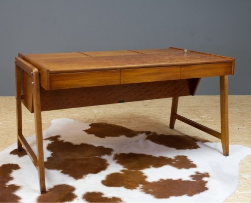 Vintage Quilted Mahogany desk by Clausen & Maurus, 1960s