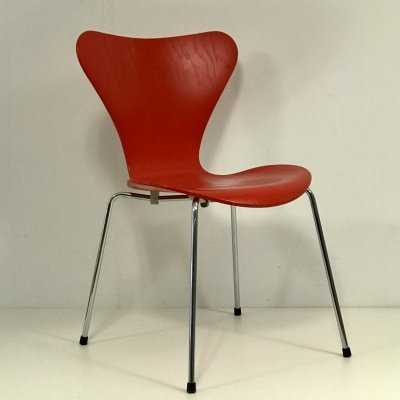 Set of 4 Butterfly model 3207 chairs by Arne Jacobsen for Fritz Hansen, 1990s