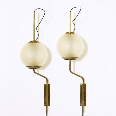 Pair of LP11 wall lamps by Luigi Caccia Dominioni for Azucena, 1958