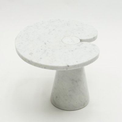 Original Angelo Magiarotti marble Eros Series side table, Italy 1970s