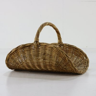 Large rattan magazine holder, 1960s