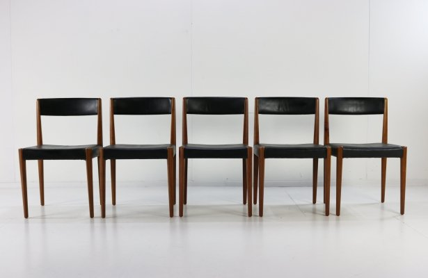 Set of 4 model 4112 dining chairs by Aage Schmidt Christensen for Fritz Hansen, 1960s