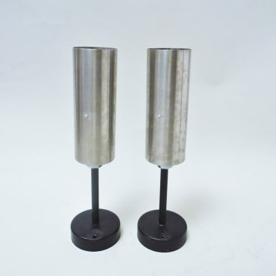 Pair of Cylindrical Wall lamps, 1970s