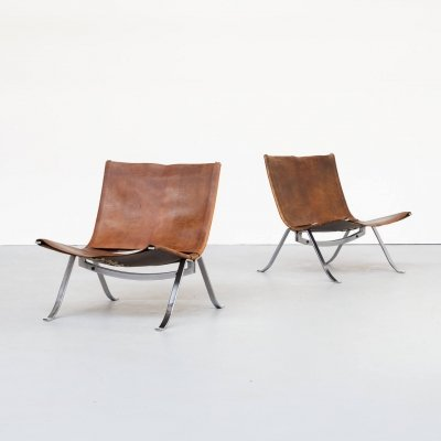 Pair of Preben Fabricius easy chairs for Arnold Exclusiv, 1970s