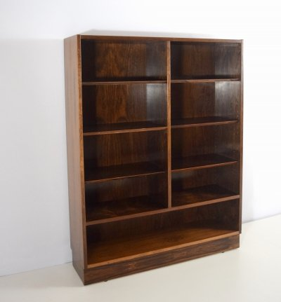 Rosewood Double Bookcase by Poul Hundevad, Denmark 1960's