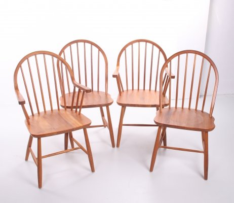 Set of 4 Erik Ole Jorgensen Danish teak dining room chairs by Tarm Stole Møbelfabrik