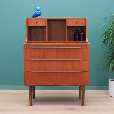 Teak secretary, Danish design 1970s