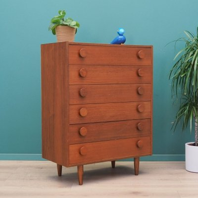 Teak chest of drawers, Denmark 1980s