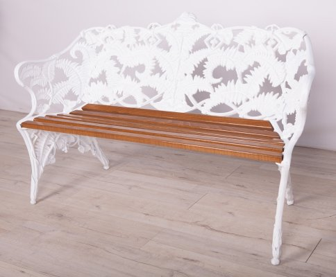 Swedish Garden Bench in cast iron from Melins, 1950s