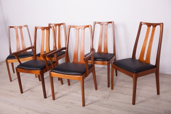 Set of 6 Mid Century Dining Chairs from Nathan, 1960s