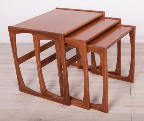 Teak Nesting Tables by R. Benett for G-Plan, 1970s