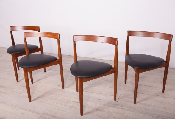 Set of 4 Compact Dining Chairs by Hans Olsen for Frem Røjle, 1950s