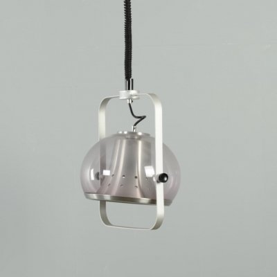 Dijkstra acrylic & aluminium space age adjustable rise & fall pendant lamp