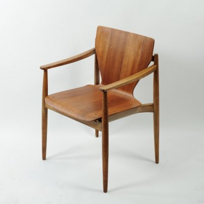 Rare Thonet 626 F beech & plywood chair, 1960/1961