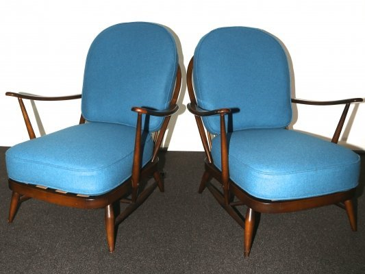 Pair of Ercol 203 Easy Chairs, 50s-60s