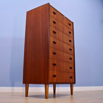 Danish chest of drawers in teak by Westergaards Møbelfabrik, 1960s