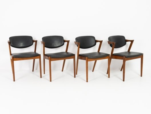 Set of 4 model 42 chairs by Kai Kristiansen, 1960s