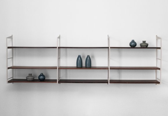 Rack with shelves in dark rosewood, 1970s
