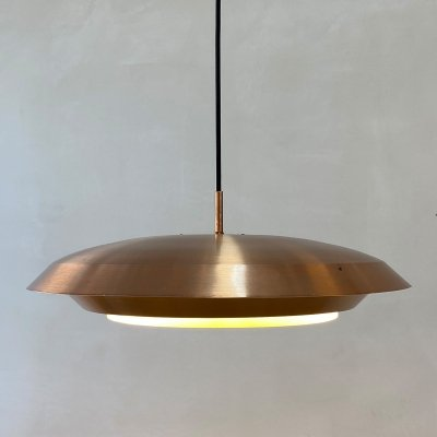 Danish copper hanging lamp, 1970s