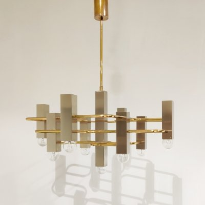Mid century Sciolari chandelier with 9 lightpoints
