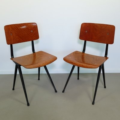 Pair of Result dining chairs by Friso Kramer for Ahrend de Cirkel, 1960s