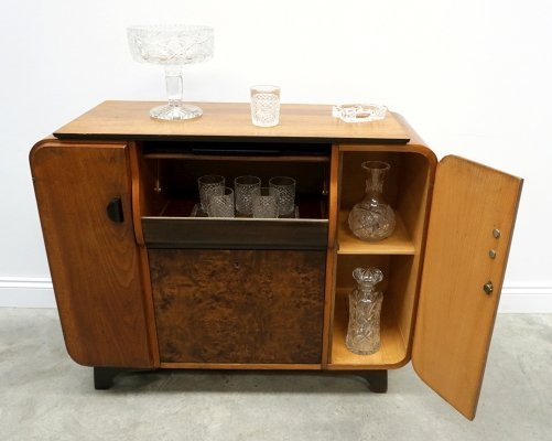 Mini Bar / Gramophone Cabinet by Jindrich Halabala for Up Zavody, 1958