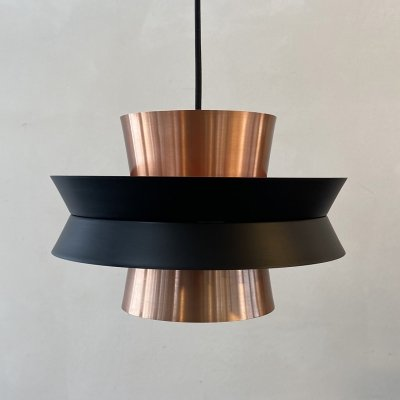 Swedish copper Trava hanging lamp by Carl Thore for Granhaga, 1960s