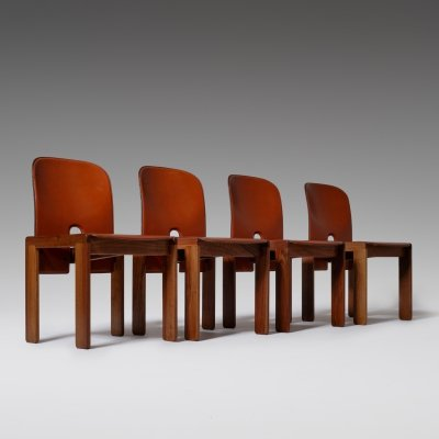 Set of 4 Afra & Tobia Scarpa '121' Dining Chairs, 1960s