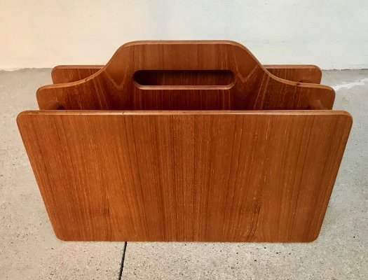Danish Solid Teakwood Magazine Rack, 1960s
