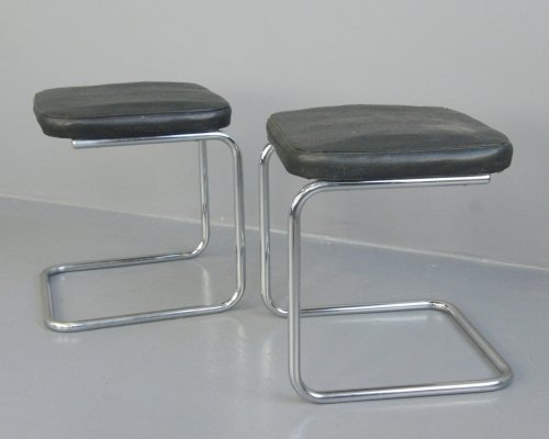 Bauhaus H22 Stools by Mart Stam for Mauser, Circa 1920s