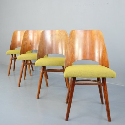 Set of 4 Dining Chairs by Oswald Haerdtl for Ton, Circa 1960s