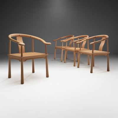 Set of 4 Richard Nissen 'Yin' Chairs for Nissens Trævarefabrik, Denmark 1960s