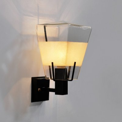 1950s outdoor wall lamp by Philips Holland