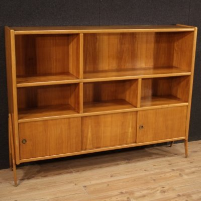 20th Century Exotic Wood Italian Design Bookcase, 1960