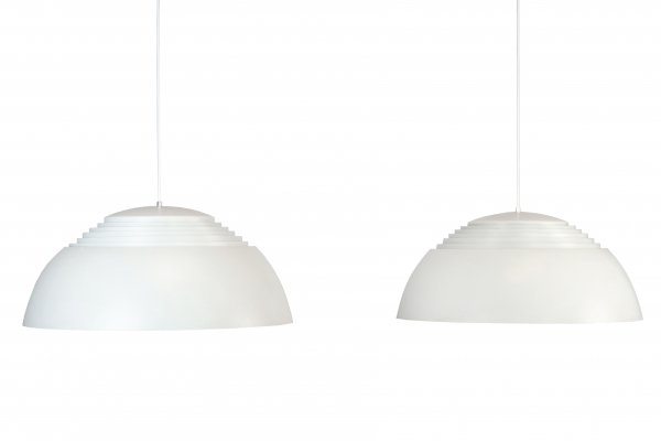 Pair of Royal hanging lamps by Arne Jacobsen for Louis Poulsen, 1960s