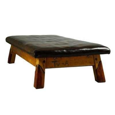 Vintage Leather Gym Table Daybed