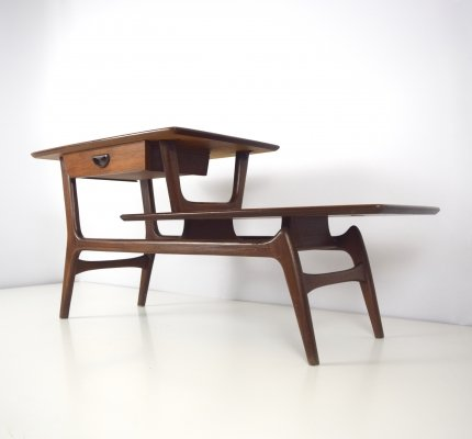 Louis Van Teeffelen TV Side Table in Teak for Webe, 1960's