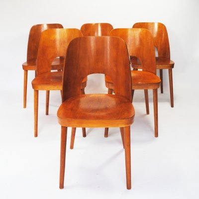 10 x dining chair by Oswald Haerdtl for Thonet, 1950s