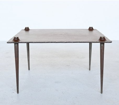 Idir Mecibah brutalist coffee table by Smederij Moerman, Belgium 1998
