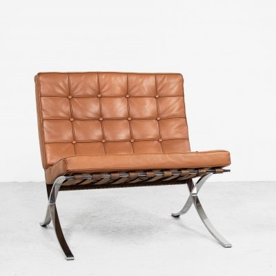 Barcelona Chair by Mies van der Rohe for Knoll, 1970s