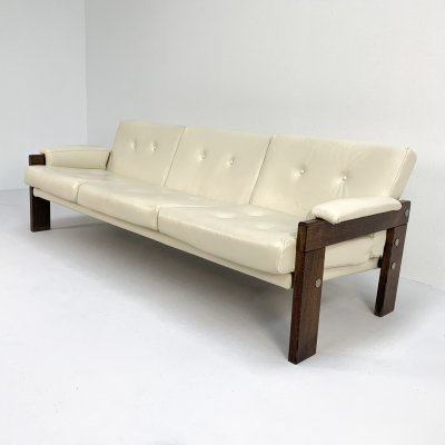 High quality Italian leather sofa, 1970s