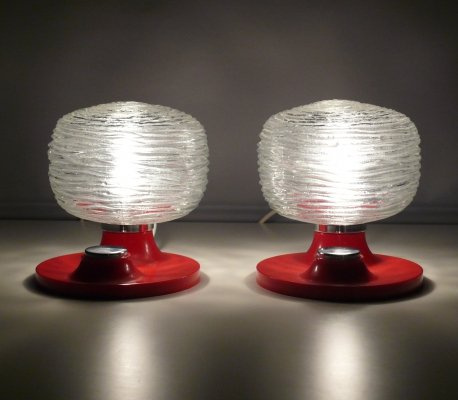 Pair of Hillebrand mid century desk lamps
