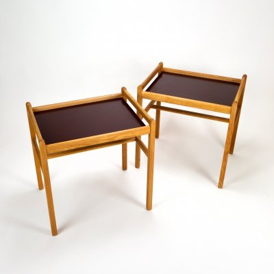 Pair of Oak Side Tables by Børge Mogensen, 1950s